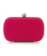 Silver Ball Decoration Design Flannelette Evening Handbag - Rose