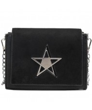 5 Colors Available Alloy Pentagram Decorated Dull Polish Texture Women Handbag/ Shoulder Bag