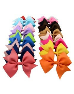 (20 pcs Per Unit) Korean Fashion Delicate Thread Tape Bowknot Toddler/ Baby Hair Clip