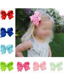 (20 pcs Per Unit) Simple Handmade Bowknot Baby Fashion Hair Band