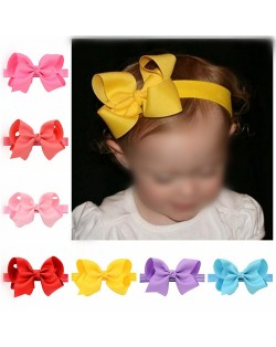 (20 pcs Per Unit) Dimensional Flower Style Bowknot Baby/ Toddler Fashion Hair Band