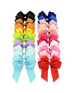(20 pcs Per Unit) Bowknot with Ribbon Baby Fashion Hair Clip