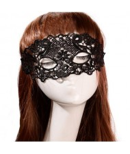 Vintage Hollow Floral Pattern Party Black Lace Masquerade