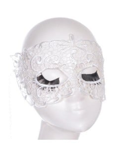 Propitious Clouds Cutout Design White Lace Mask