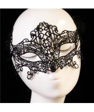 Fox Style Cutout Fashion Black Lace Party Mask