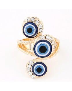 Mascot Turkey Blue Eyes Theme Ring