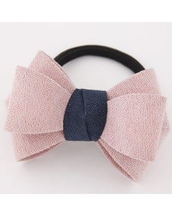 Korean Fashion Adorable Bowknot Cloth Hair Band - Pink