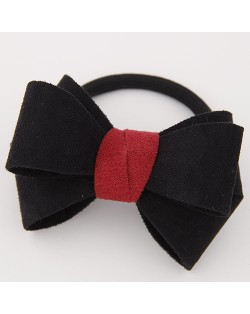 Korean Fashion Adorable Bowknot Cloth Hair Band - Black