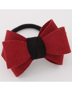 Korean Fashion Adorable Bowknot Cloth Hair Band - Red