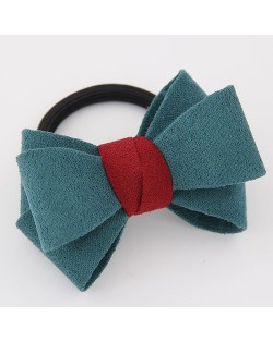 Korean Fashion Adorable Bowknot Cloth Hair Band - Green