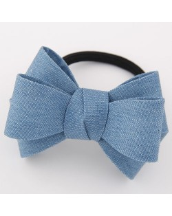Korean Fashion Adorable Bowknot Cloth Hair Band - Sky Blue