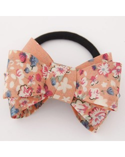 Spring Fashion Cute Bowknot Cloth Hair Band - Orange Flower