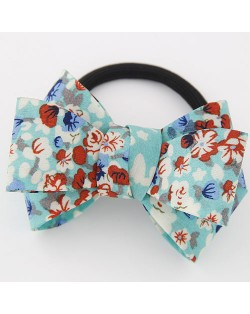 Spring Fashion Cute Bowknot Cloth Hair Band - Blue Flower