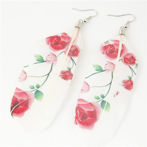 Spring Fashion Feather Earrings
