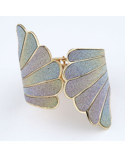 Angle Wings Dull Polish Texture Fashion Bangle - Gradient
