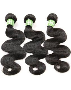 3 Bundles 100% Human Hair Body Wave Brazilian Virgin Hair Weaves/ Wefts