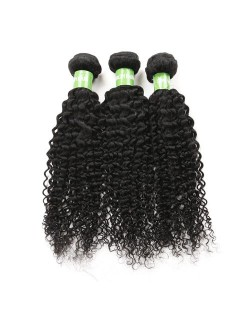 3 Bundles Kinky Curly 100% Human Hair Brazilian Virgin Hair Weaves/ Wefts
