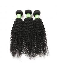 3 Bundles Kinky Curly 100% Human Hair Brazilian Virgin Hair Weaves/ Wefts