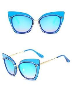 7 Colors Available Golden Frame Cat Eye Shape Fashion Sunglasses