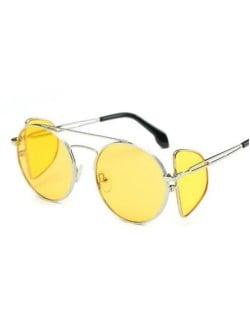 7 Colors Available Unique Four Lens Design High Fashion Sunglasses