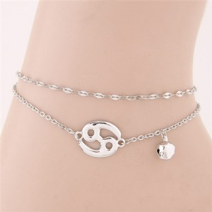 Twelve Constellations Series Sweet Style Women Fashion Anklets - Cancer