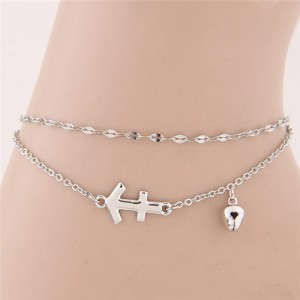 Twelve Constellations Series Sweet Style Women Fashion Anklets - Sagittarius