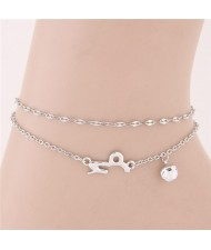 Twelve Constellations Series Sweet Style Women Fashion Anklets - Capricornus