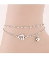 Twelve Constellations Series Sweet Style Women Fashion Anklets - Libra
