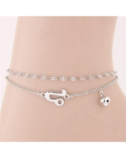 Twelve Constellations Series Sweet Style Women Fashion Anklets - Leo