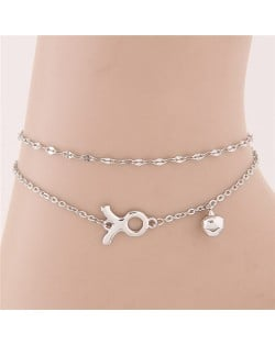 Twelve Constellations Series Sweet Style Women Fashion Anklets - Taurus