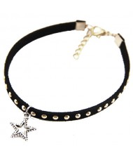 Alloy Studs Fashion Star Pendant Women Rope Anklet