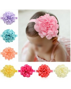 (12 pcs Per Unit) Big Flower Cute Baby/ Toddler Hair Band