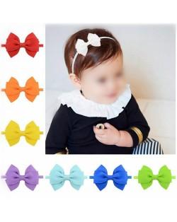 (20 pcs Per Unit) Graceful Ribbon Bowknot Toddler Hair Bands