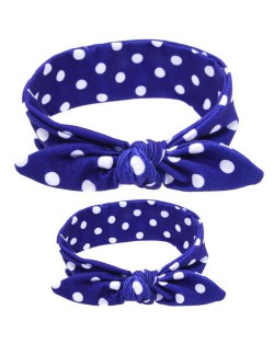 Spots Design Baby Hair Band Set - Blue