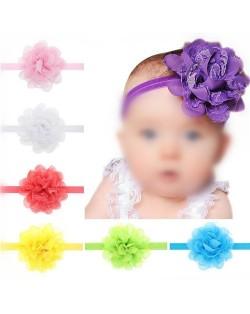 (13 pcs Per Unit) Adorable Lace Flower Toddler Hair Bands