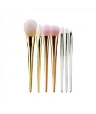 7 pcs Plain Handle Fashion Makeup Brushes Set - Mixed Color