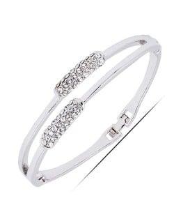 Glistening Rhinestone Ear of Wheat Lady Fashion Bracelet
