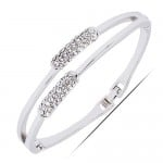 Glistening Rhinestone Ear of Wheat Lady Fashion Bracelet