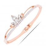 Rhinestone Elegant Crown Golden Fashion Bangle