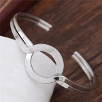 Simple Artistic High Fashion Alloy Bangle - Silver