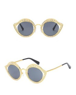 6 Colors Available Rhinestone Decorated Frame High Fashion Lady Sunglasses
