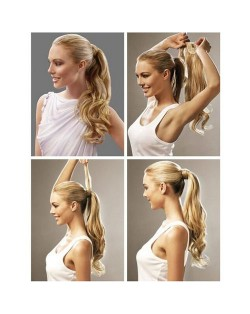 15 Colors Available Curly Ponytail Synthetic Wig Pieces/ Hair Extensions