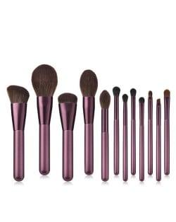 12 pcs Lilac Fashion Makeup Brushes Set