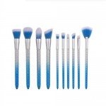 10 pcs Screw Design Handle Fashion Makeup Brushes Set - Blue