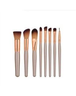 8 pcs Brown High Fashion Makeup Brushes Set