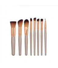 8 pcs Brown High Fashion Makeup Brushes Set