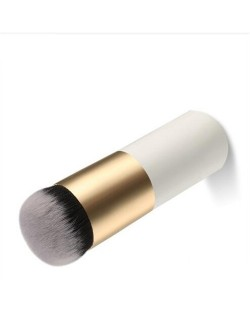 Chalk Head Design Short Style Fashion Makeup Brushes - Golden