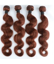 3 Pieces 100% Human Hair Color 4 Body Wave Brazilian Virgin Hair Weaves/ Wefts