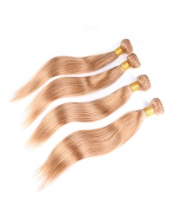 3 Pieces 100% Human Hair Color 27 Straight Ombre Brazilian Virgin Hair Weaves/ Wefts