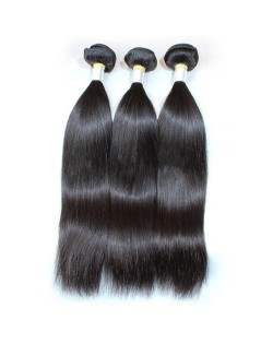 3 Pieces 8A Grade 100% Human Hair Straight Natural Color Brazilian Virgin Hair Weaves/ Wefts